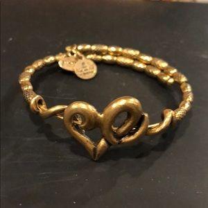 Alex and Ani heart wrap bracelet